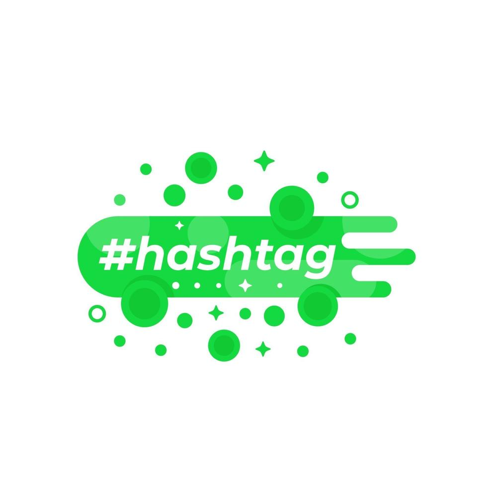 banner vettoriale hashtag