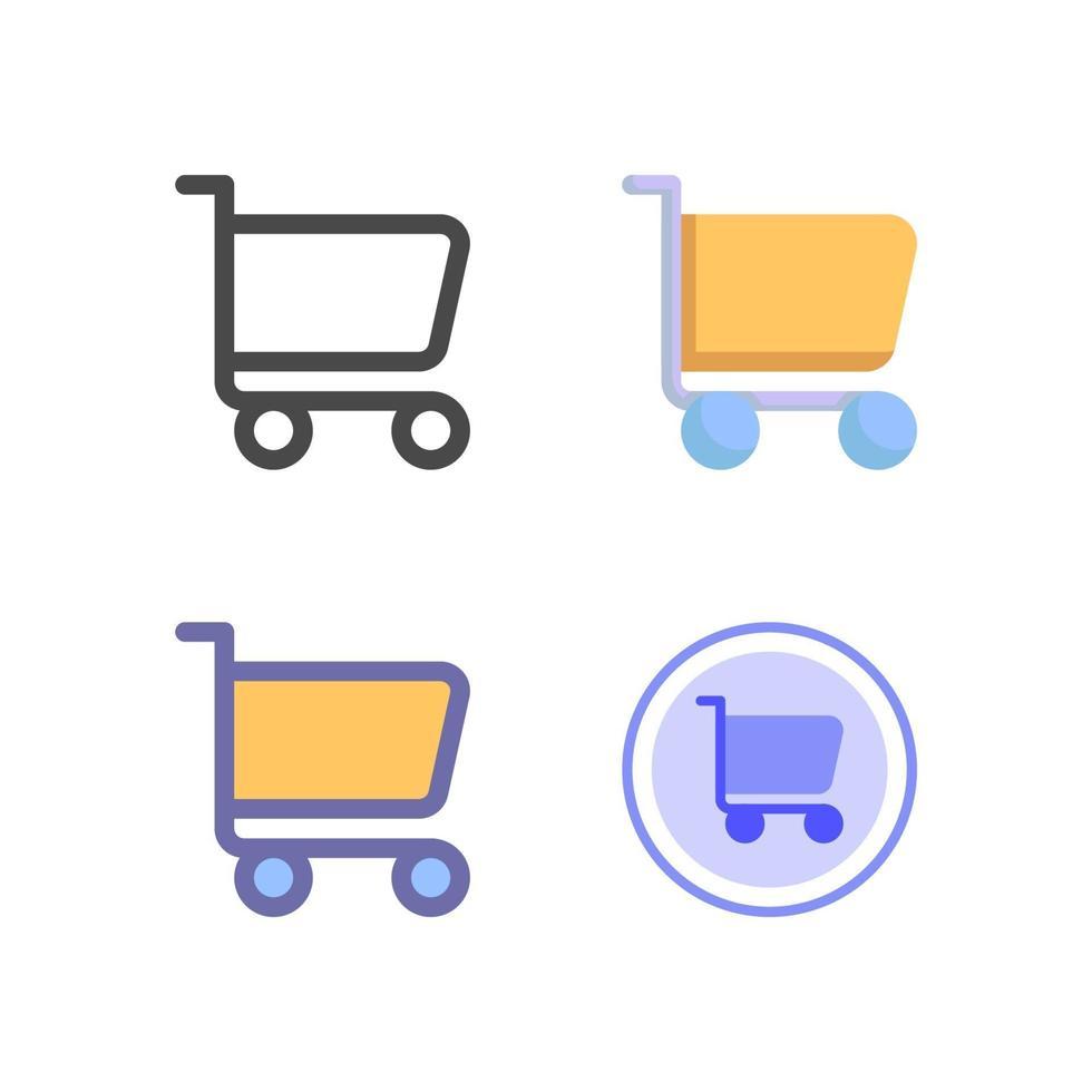 pacchetto dell'icona del carrello della spesa isolato su priorità bassa bianca. per il design del tuo sito web, logo, app, ui. illustrazione grafica vettoriale e tratto modificabile. eps 10.