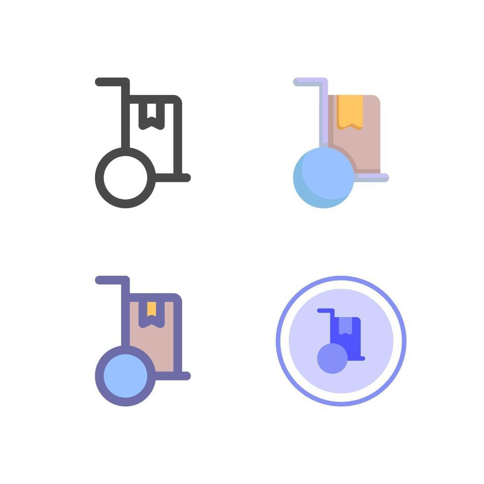 icon pack di consegna isolato su priorità bassa bianca. per il design del tuo sito web, logo, app, ui. illustrazione grafica vettoriale e tratto modificabile. eps 10.
