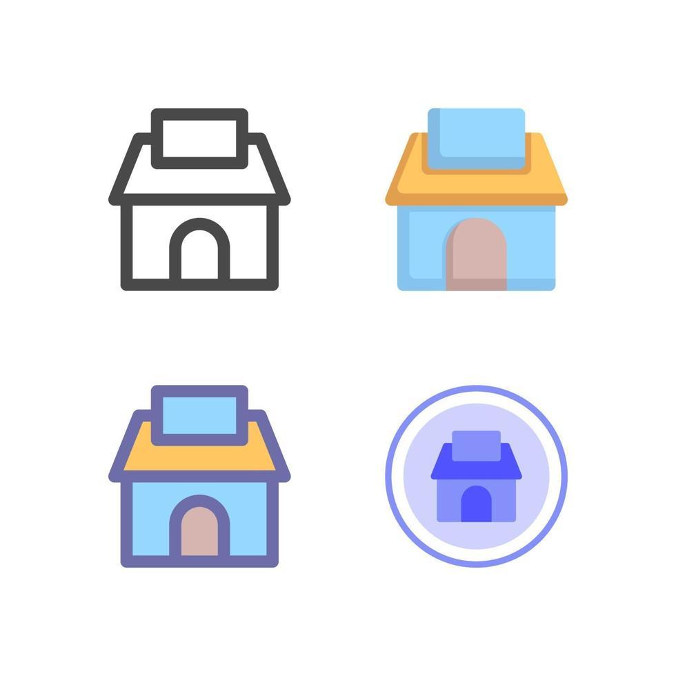 icon pack negozio isolato su sfondo bianco. per il design del tuo sito web, logo, app, ui. illustrazione grafica vettoriale e tratto modificabile. eps 10.