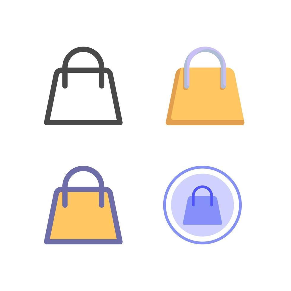 icon pack borsa della spesa isolato su priorità bassa bianca. per il design del tuo sito web, logo, app, ui. illustrazione grafica vettoriale e tratto modificabile. eps 10.