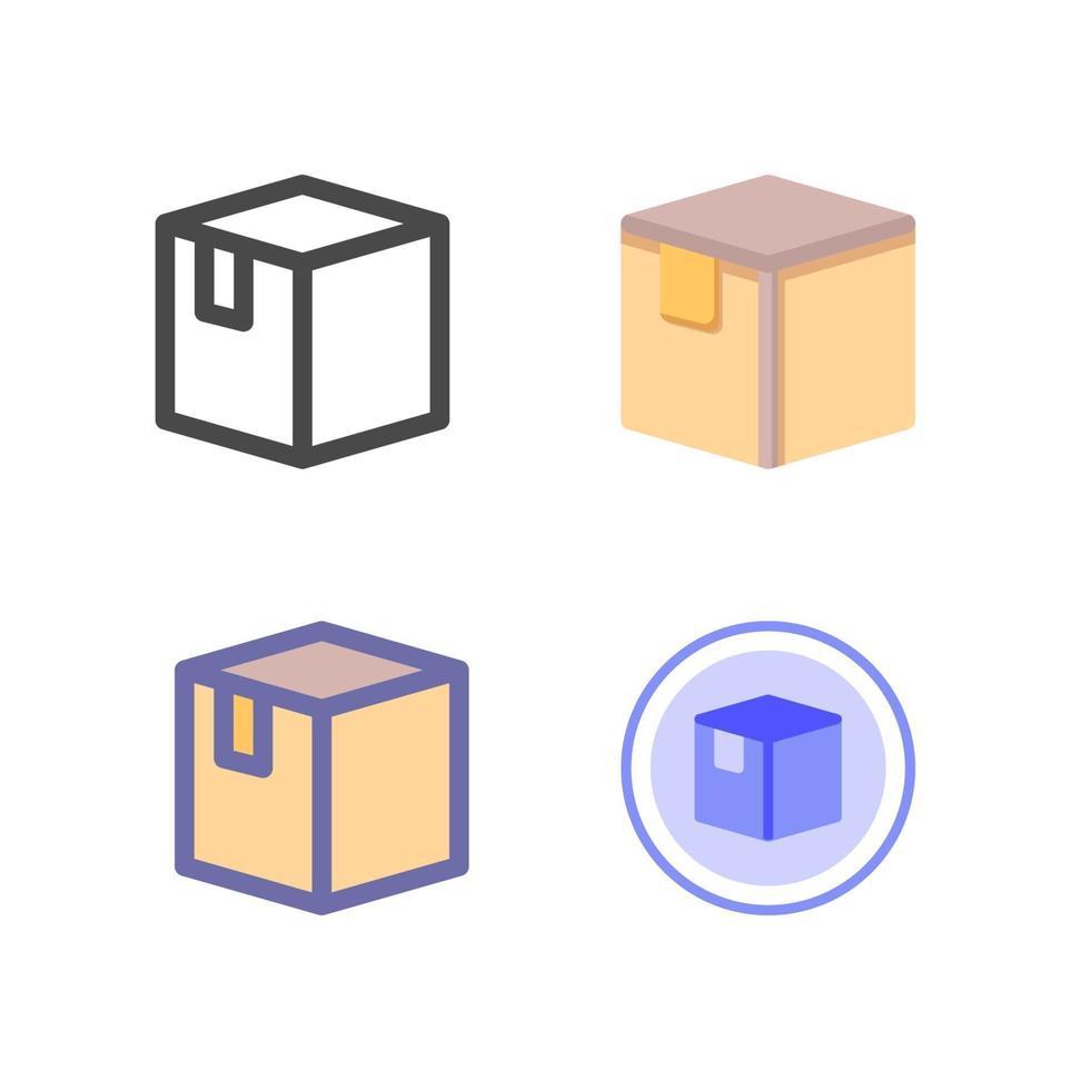 icon pack box isolato su sfondo bianco. per il design del tuo sito web, logo, app, ui. illustrazione grafica vettoriale e tratto modificabile. eps 10.