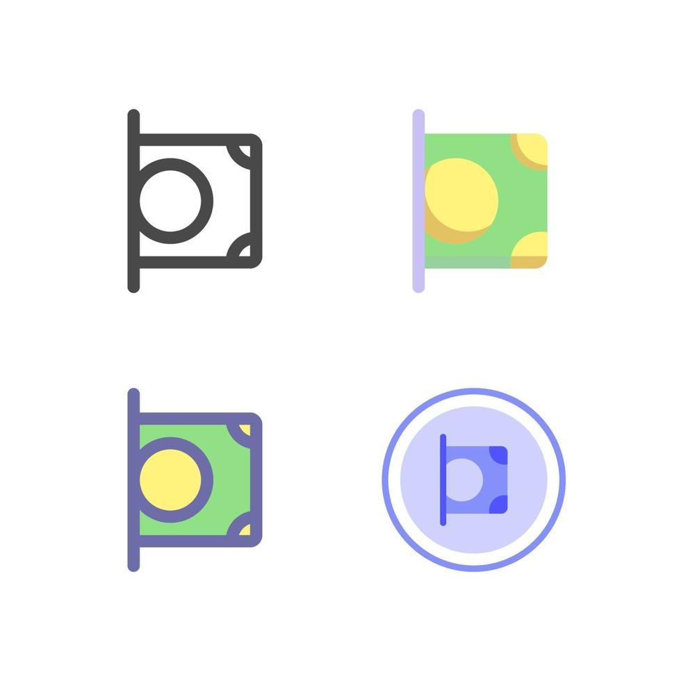 pacchetto di icone di denaro isolato su priorità bassa bianca. per il design del tuo sito web, logo, app, ui. illustrazione grafica vettoriale e tratto modificabile. eps 10.