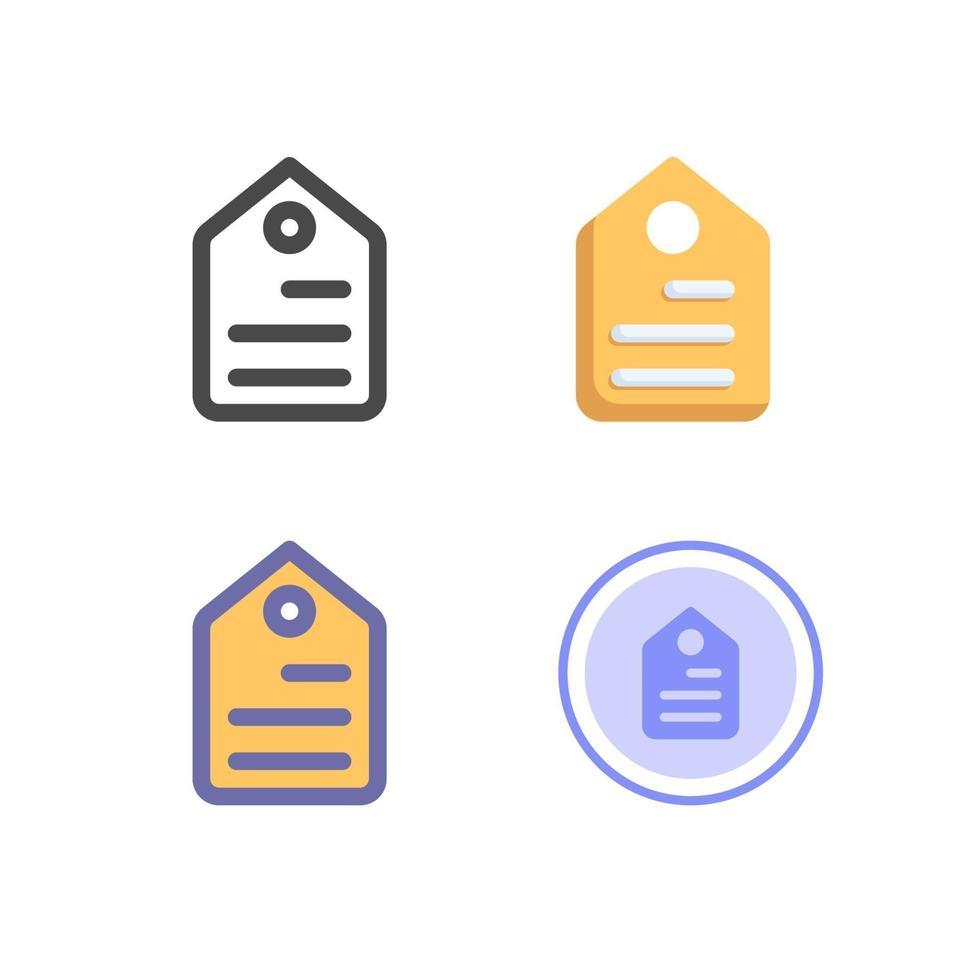 pacchetto di icone di cartellino del prezzo isolato su priorità bassa bianca. per il design del tuo sito web, logo, app, ui. illustrazione grafica vettoriale e tratto modificabile. eps 10.