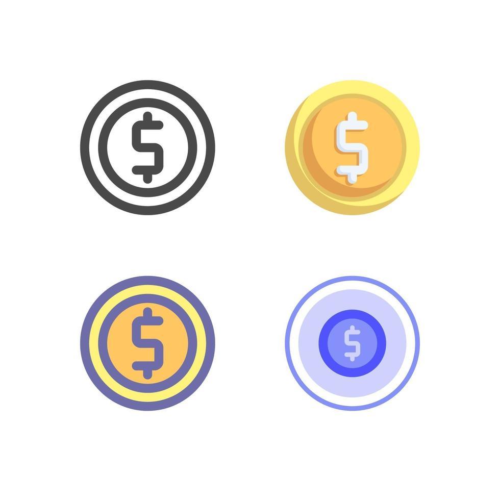 icon pack moneta isolato su sfondo bianco. per il design del tuo sito web, logo, app, ui. illustrazione grafica vettoriale e tratto modificabile. eps 10.