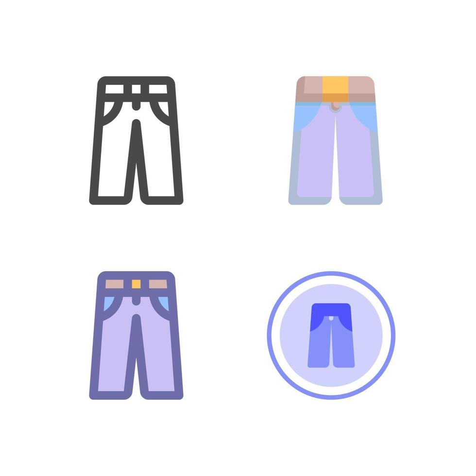 icon pack pantaloni isolato su priorità bassa bianca. per il design del tuo sito web, logo, app, ui. illustrazione grafica vettoriale e tratto modificabile. eps 10.