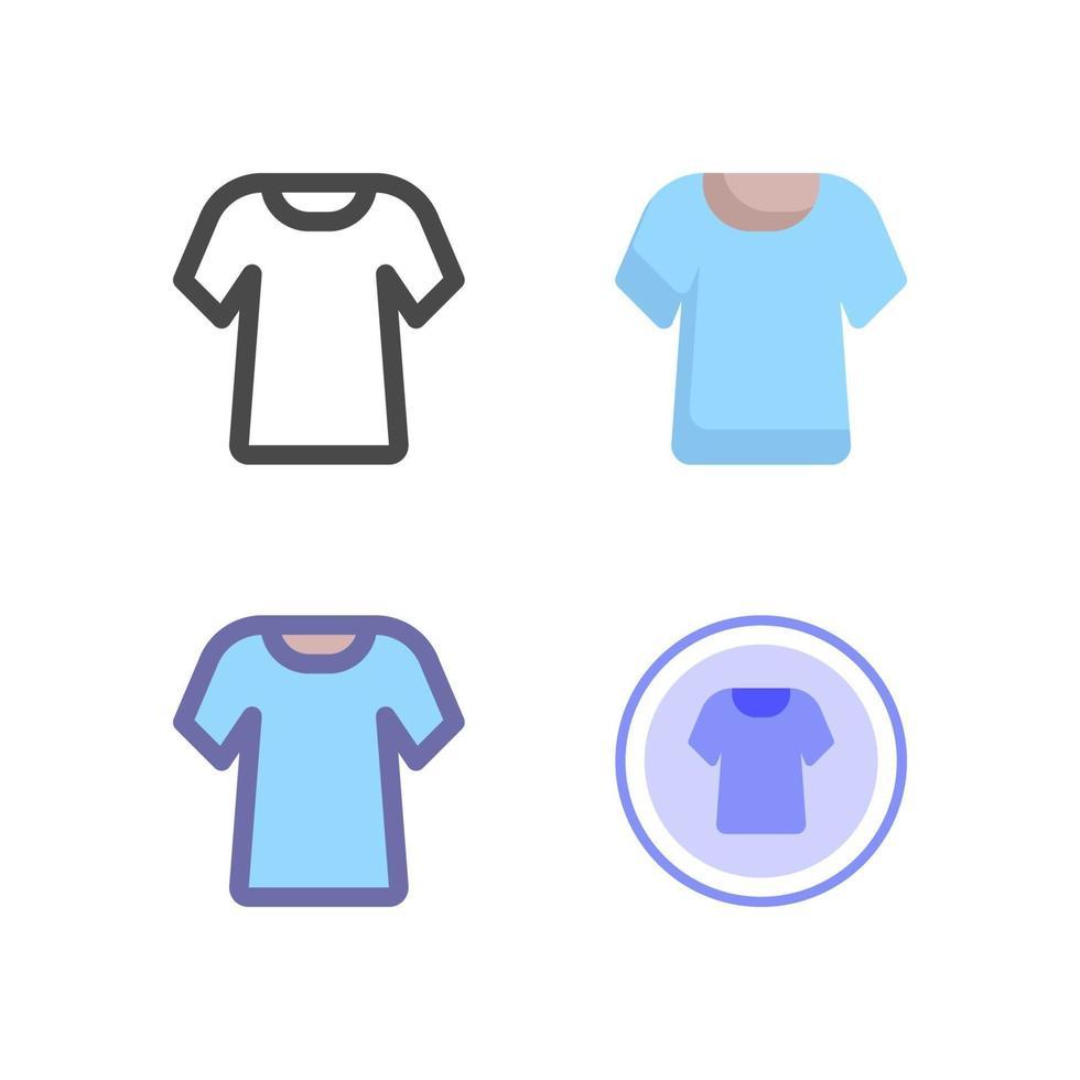 icon pack camicia isolato su priorità bassa bianca. per il design del tuo sito web, logo, app, ui. illustrazione grafica vettoriale e tratto modificabile. eps 10.