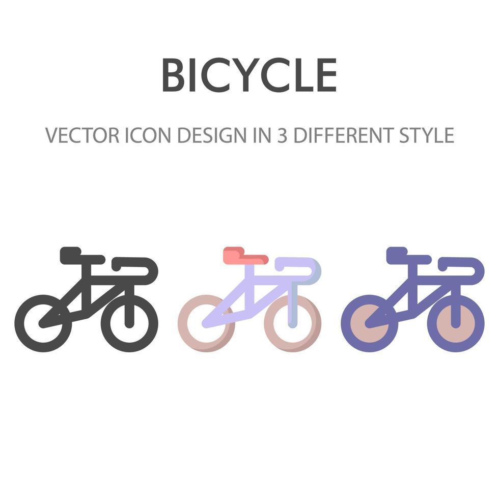 icon pack di biciclette isolato su priorità bassa bianca. per il design del tuo sito web, logo, app, ui. illustrazione grafica vettoriale e tratto modificabile. eps 10.