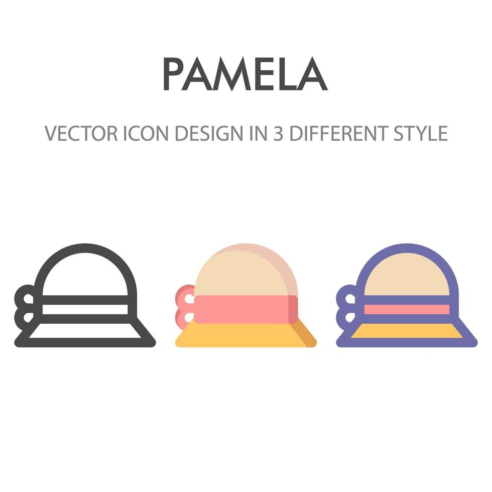 icon pack cappello pamela isolato su sfondo bianco. per il design del tuo sito web, logo, app, ui. illustrazione grafica vettoriale e tratto modificabile. eps 10.