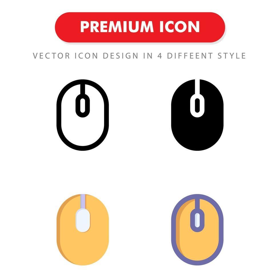 pacchetto di icone del mouse isolato su priorità bassa bianca. per il design del tuo sito web, logo, app, ui. illustrazione grafica vettoriale e tratto modificabile. eps 10.