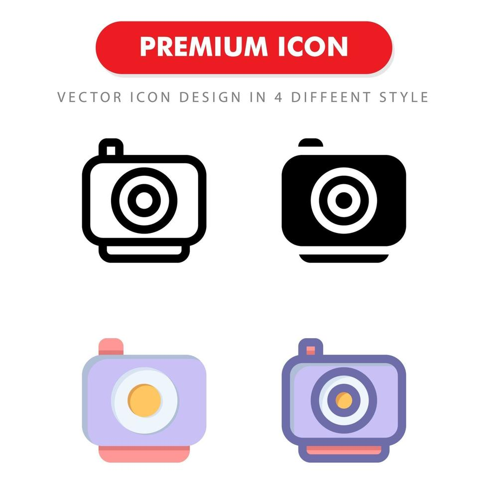 icon pack action camera isolato su sfondo bianco. per il design del tuo sito web, logo, app, ui. illustrazione grafica vettoriale e tratto modificabile. eps 10.