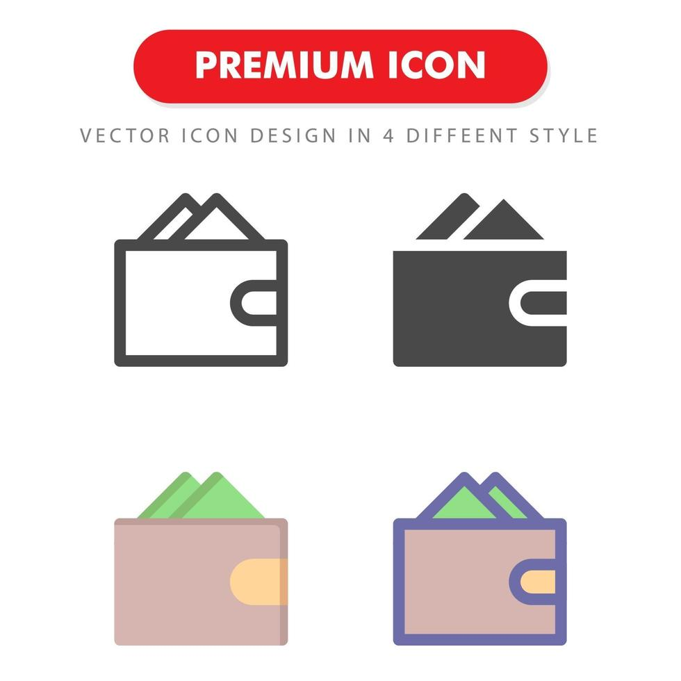 icon pack portafoglio isolato su sfondo bianco. per il design del tuo sito web, logo, app, ui. illustrazione grafica vettoriale e tratto modificabile. eps 10.
