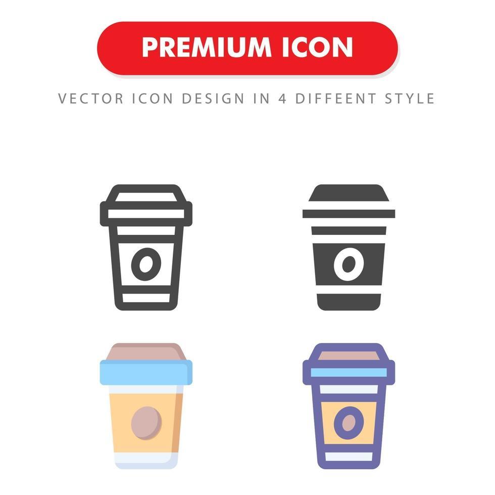 pacchetto di icone di caffè isolato su priorità bassa bianca. per il design del tuo sito web, logo, app, ui. illustrazione grafica vettoriale e tratto modificabile. eps 10.