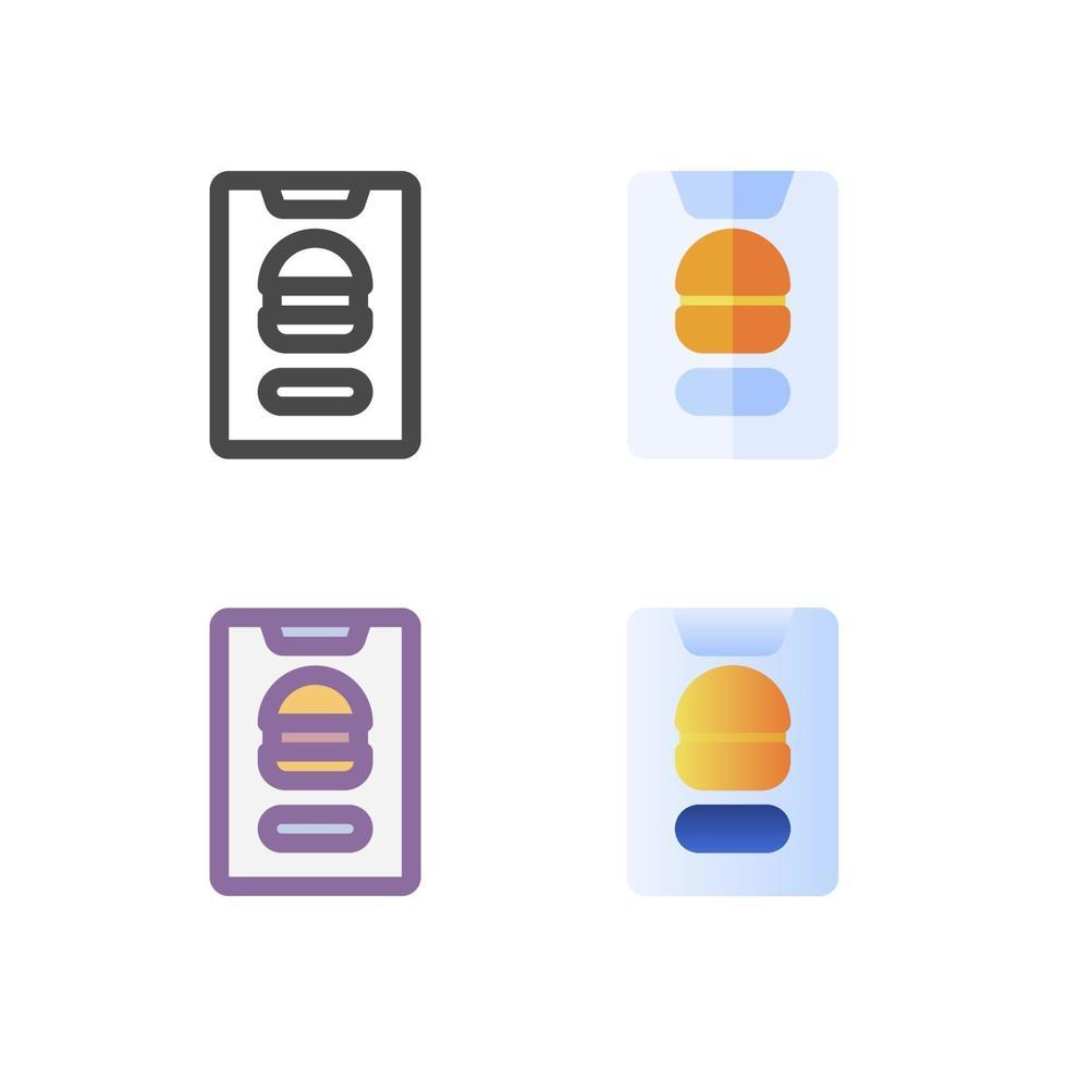 icon pack di cibo isolato su priorità bassa bianca. per il design del tuo sito web, logo, app, ui. illustrazione grafica vettoriale e tratto modificabile. eps 10.