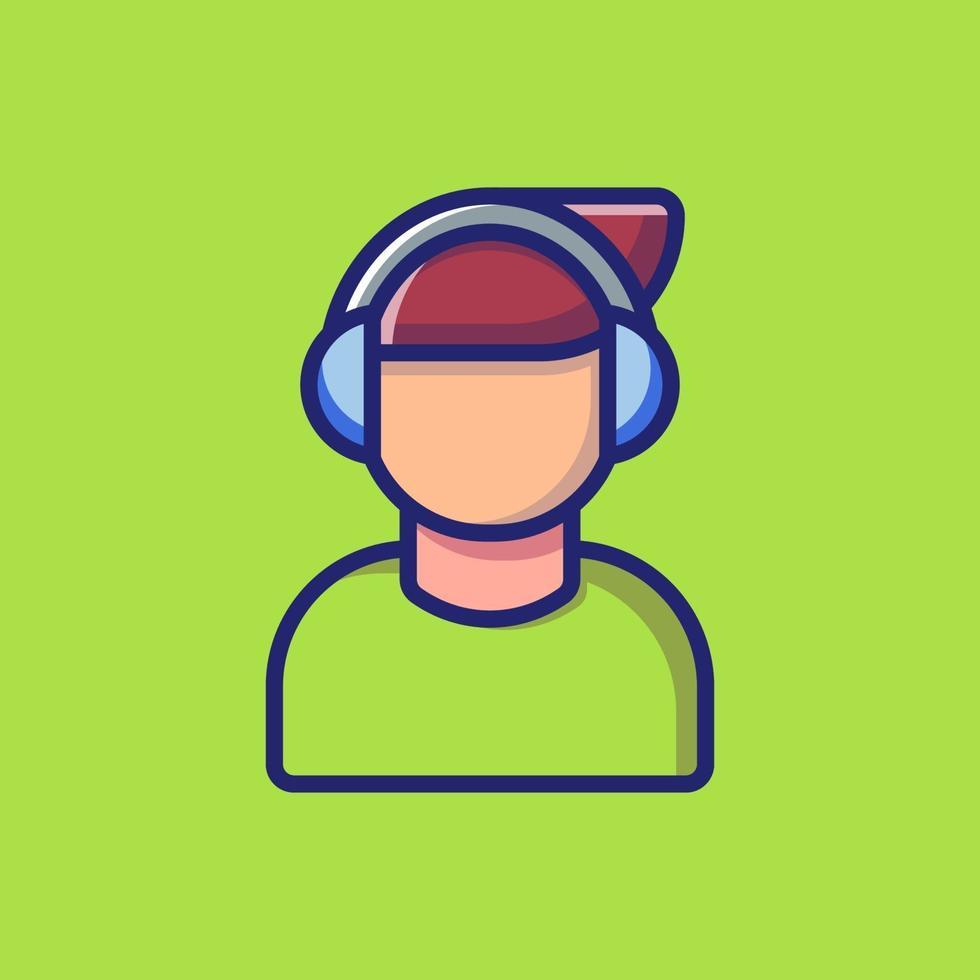 ascolto icona vettore illustrazione. stile cartone animato piatto adatto per pagina di destinazione web, banner, adesivo, sfondo.