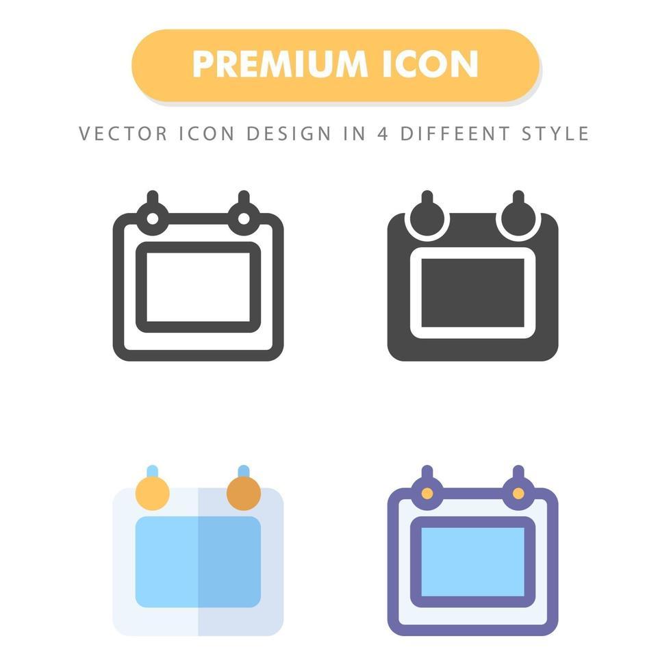 pacchetto di icone del calendario isolato su priorità bassa bianca. per il design del tuo sito web, logo, app, ui. illustrazione grafica vettoriale e tratto modificabile. eps 10.