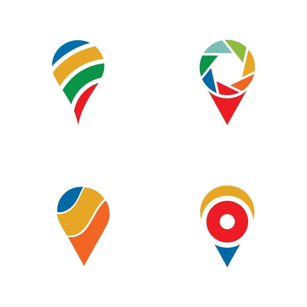 modello di progettazione di logo icona punto di posizione vettore