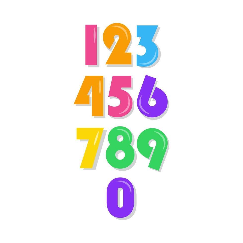 numero di bambini impostato illustrazione vettoriale modello di progettazione