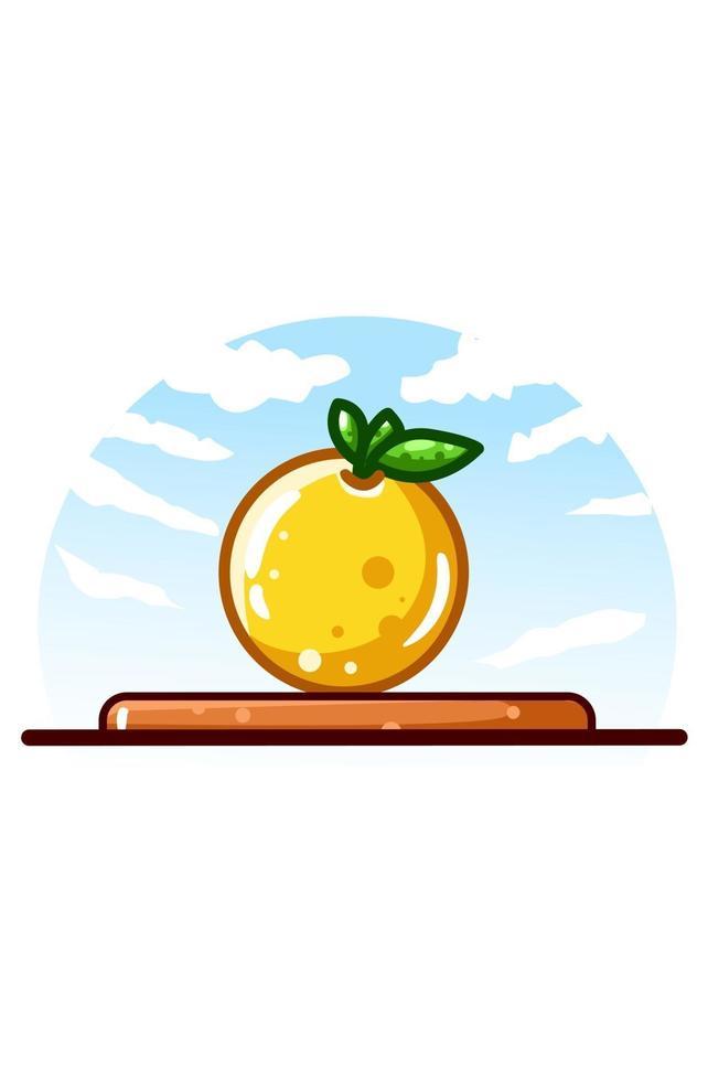 illustrazione di cartone animato icona arancione vettore