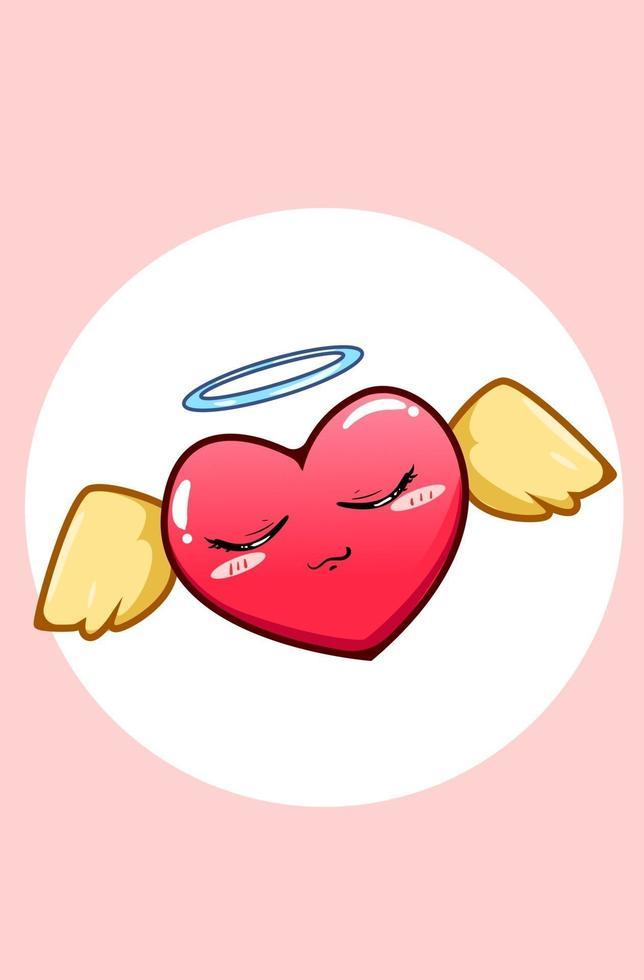 illustrazione del fumetto del cuore di fata vettore