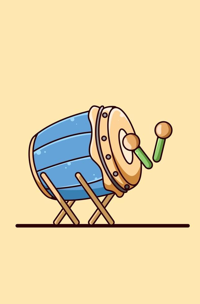 illustrazione del fumetto dell & # 39; icona del tamburo della moschea vettore