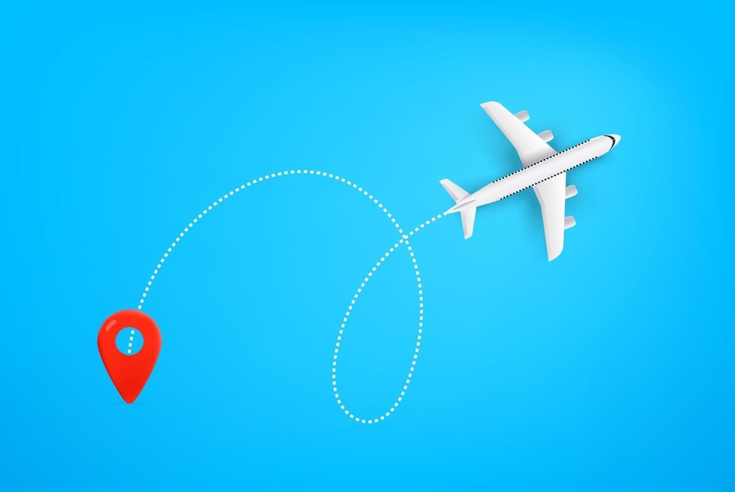 percorso aereo moderno. illustrazione vettoriale di viaggio estivo