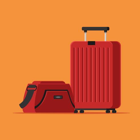 Vettore di bagagli rossi