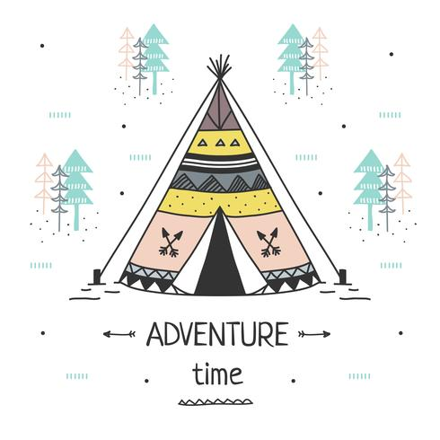 Vettore di tempo di avventura