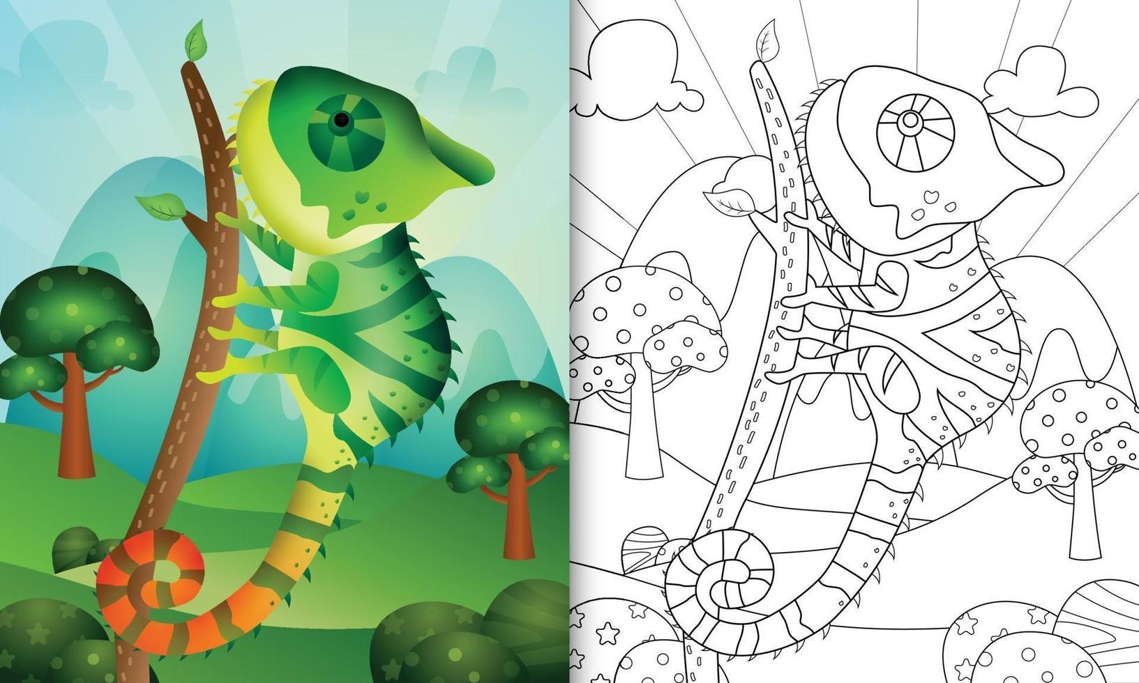 Libro Da Colorare Per Bambini Con Un Simpatico Personaggio Di Camaleonte 2168659 Scarica Immagini Vettoriali Gratis Grafica Vettoriale E Disegno Modelli