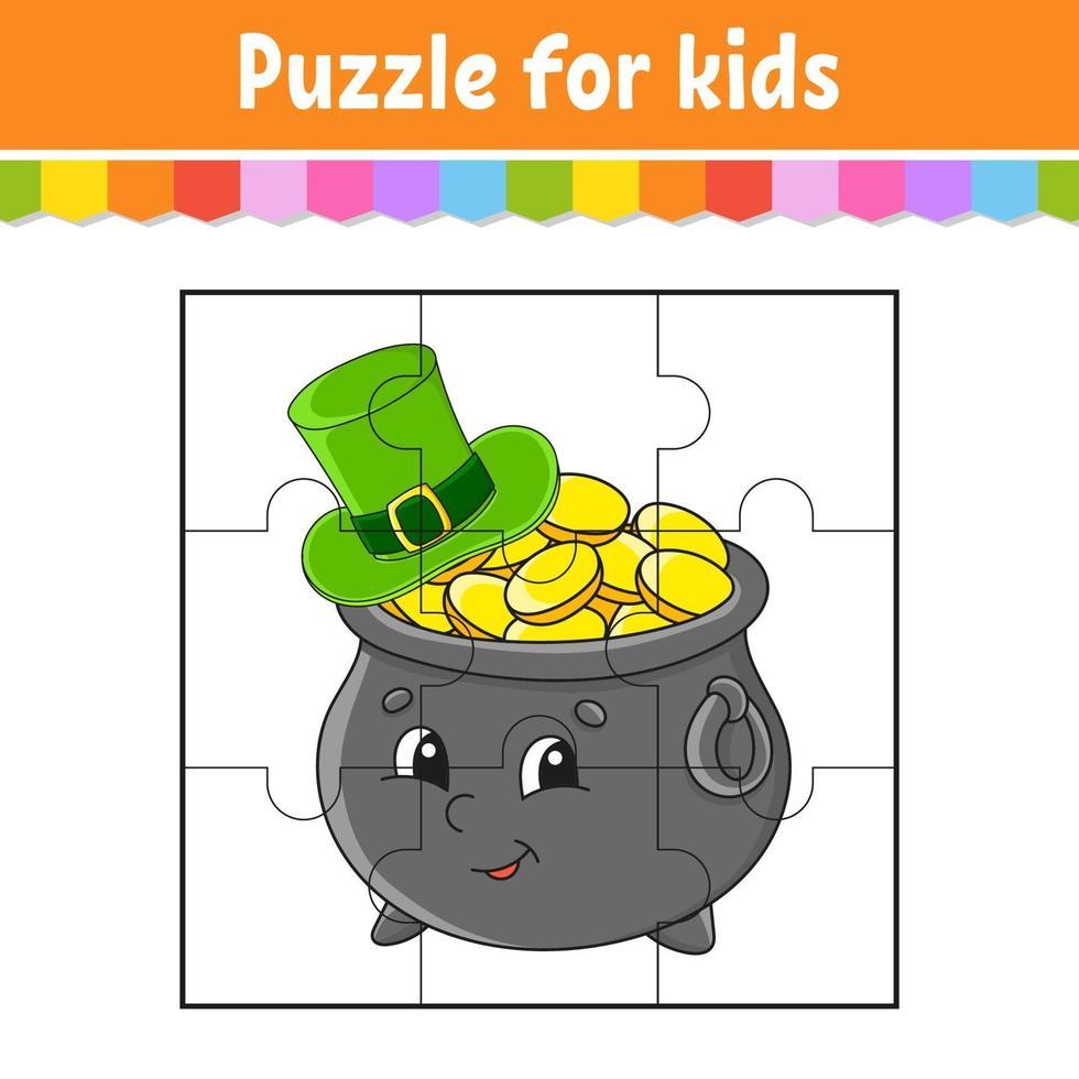 calderone facile puzzle vettore