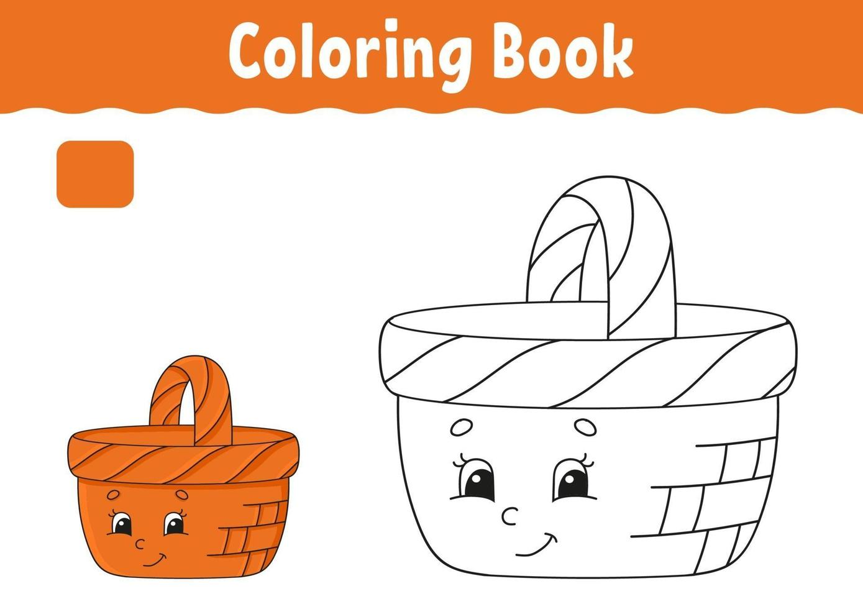 libro da colorare per bambini vettore