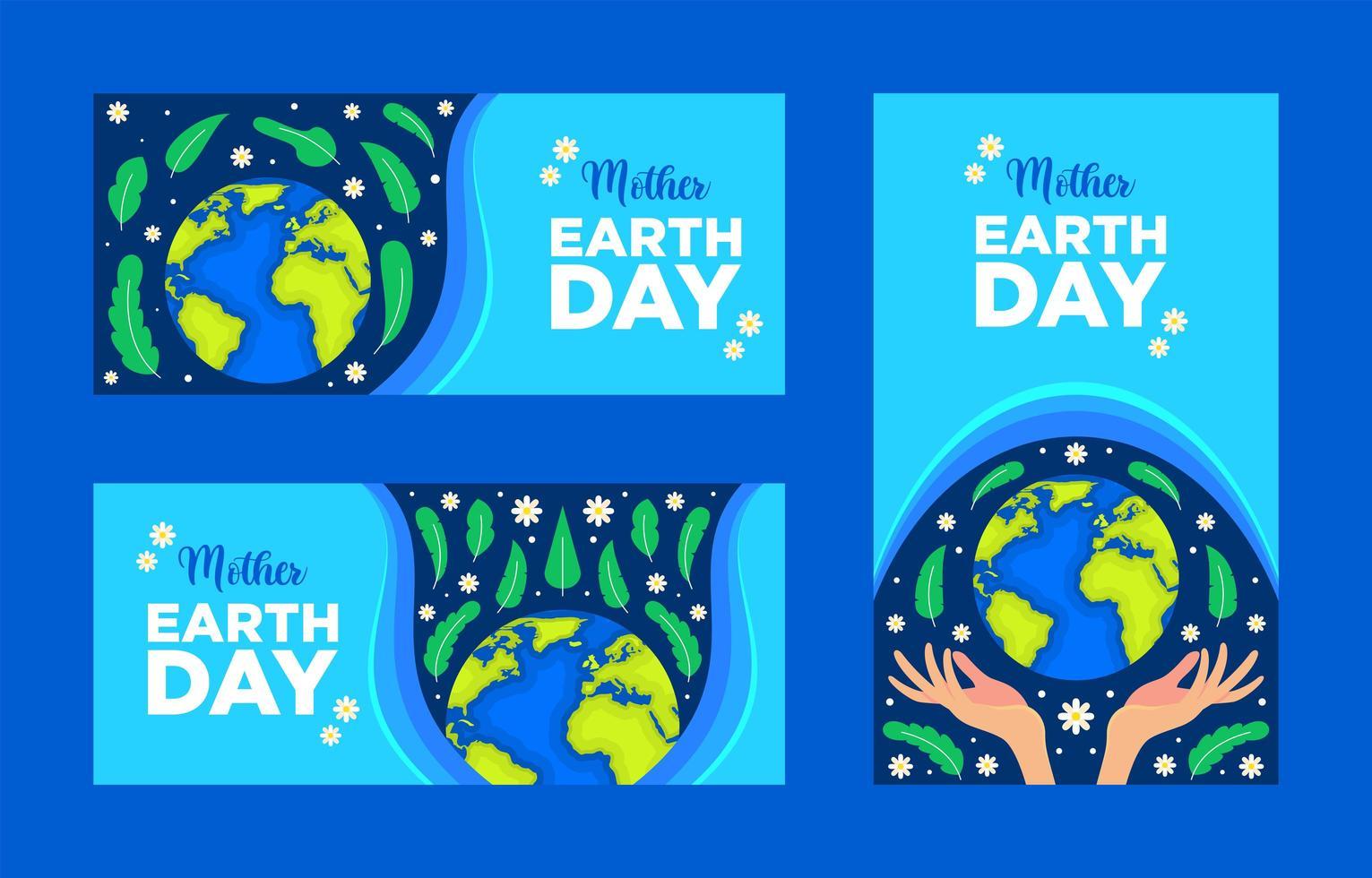 banner della giornata della madre terra vettore