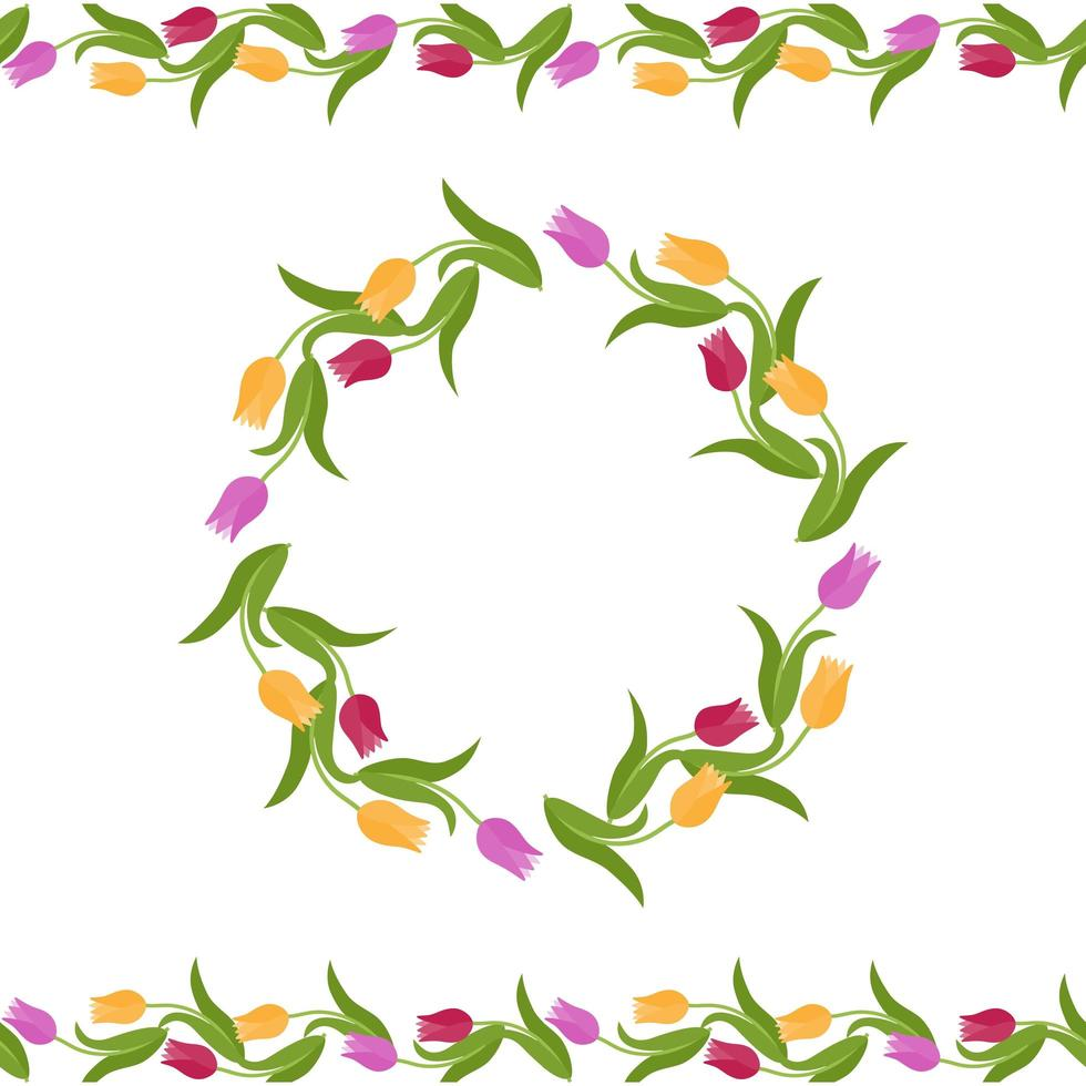 decorazioni floreali per biglietto di auguri vettore