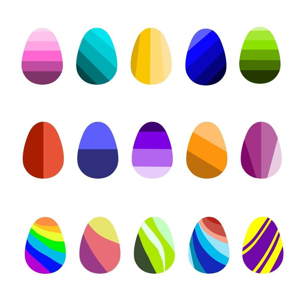 set colorato di uova di Pasqua per le vacanze vettore