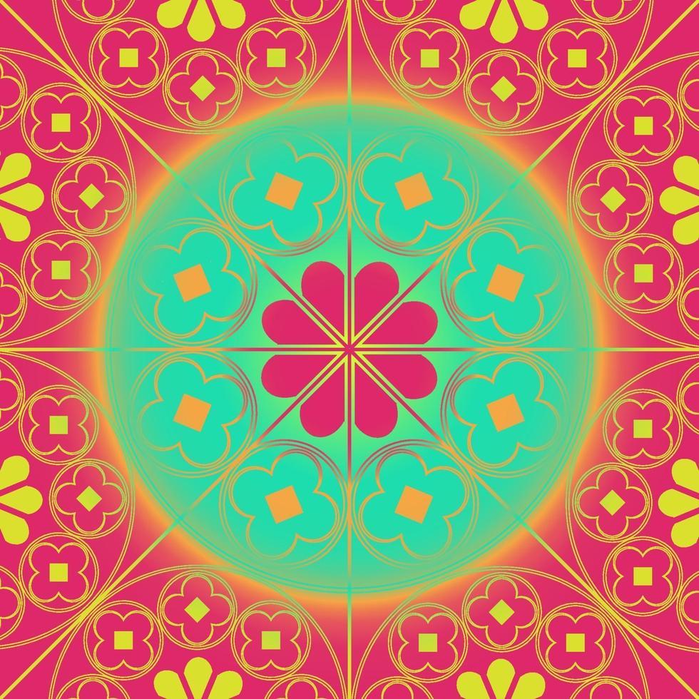 tudor rose pattern ripetuto sfondo corallo aqua vettore