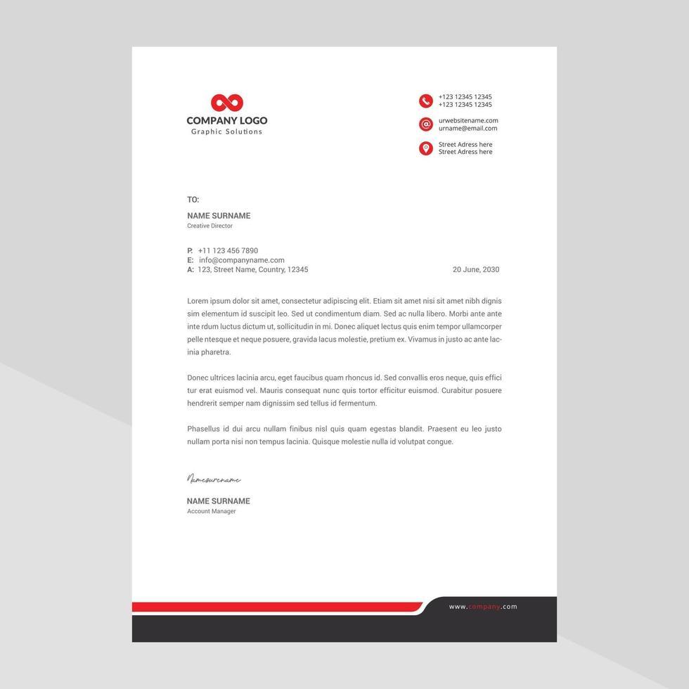 vettore gratuito di carta intestata aziendale moderna