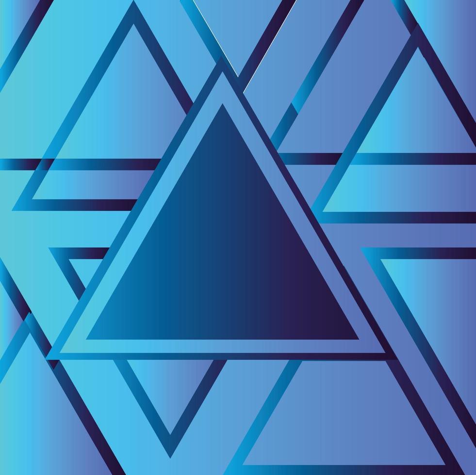modello di sfondo luminoso al neon triangolare grafico blu navy vettore