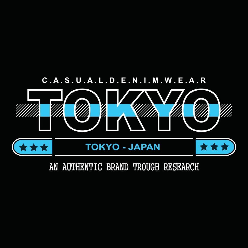 design t-shirt tipografia denim giappone tokyo vettore