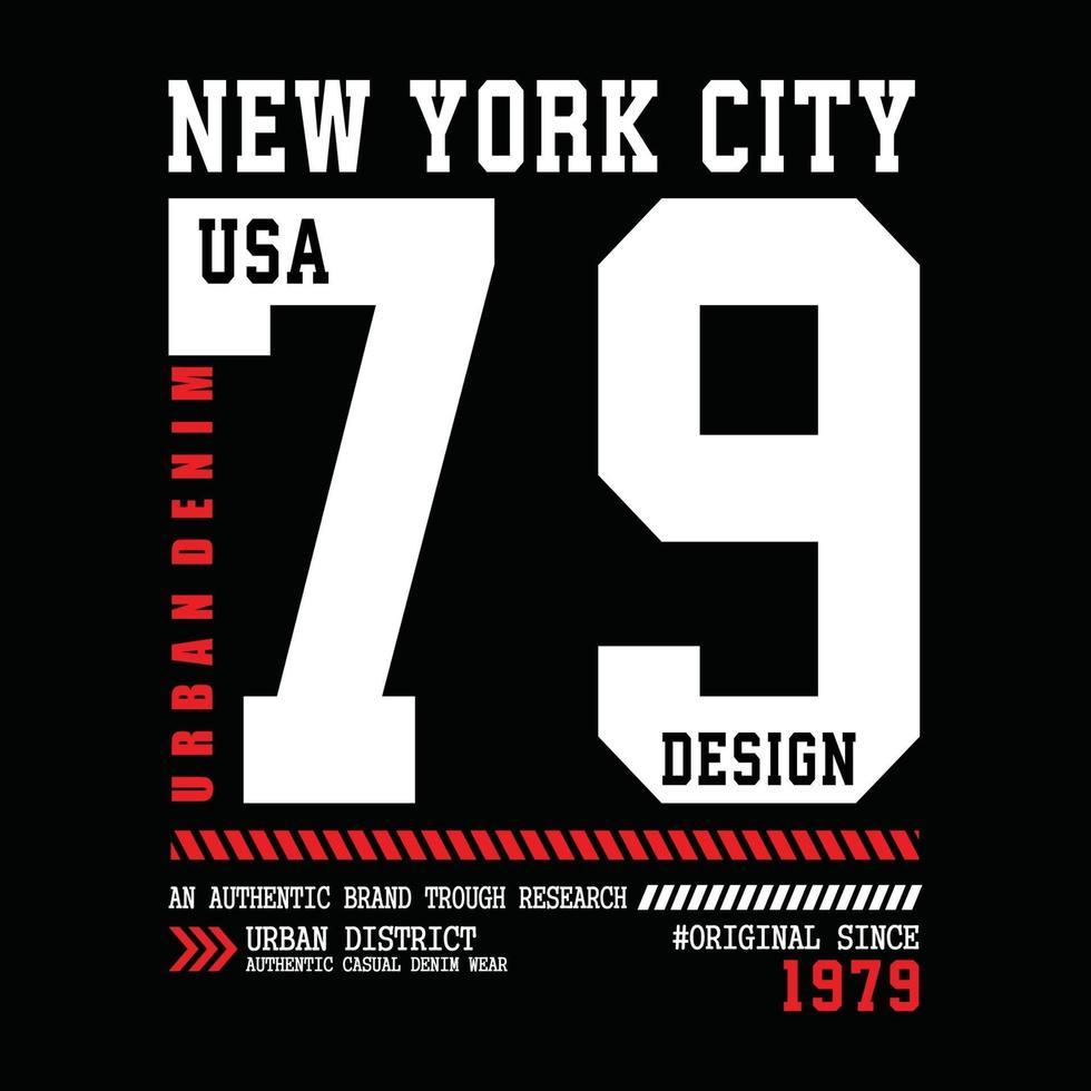 design tipografico di abbigliamento urbano di New York City vettore