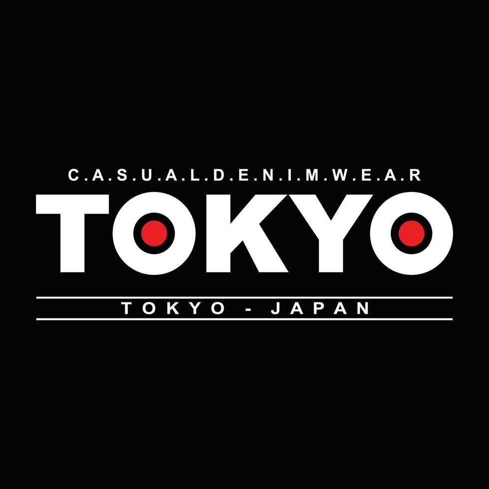 tokyo giappone design tipografico di abbigliamento urbano vettore