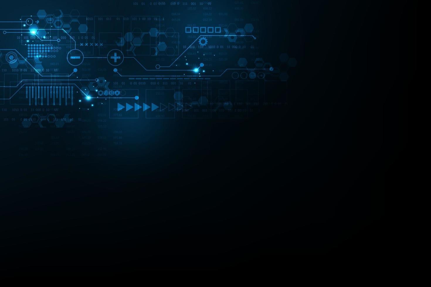 vettore sfondo astratto sul lavoro digitale complesso.