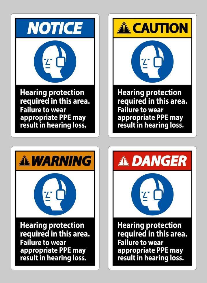 protezione dell'udito richiesta in quest'area, il mancato utilizzo di DPI appropriati può causare la perdita dell'udito vettore
