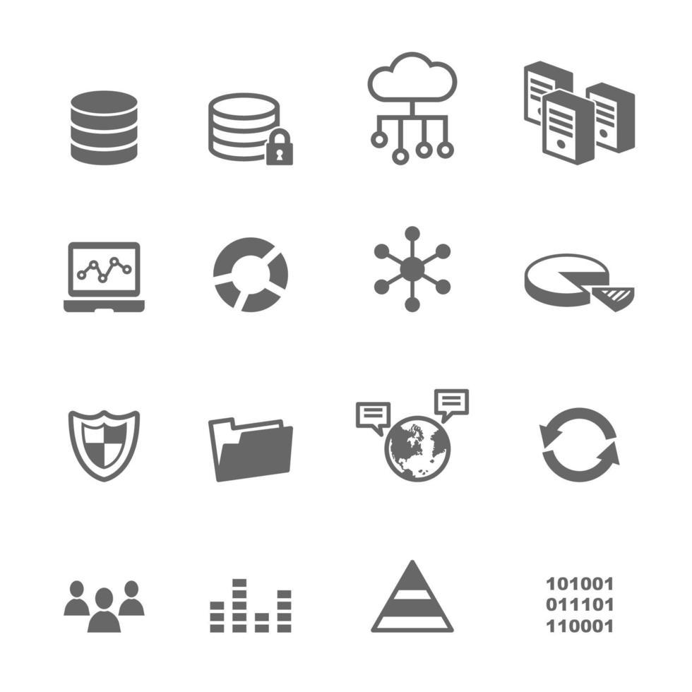 icone vettoriali di dati