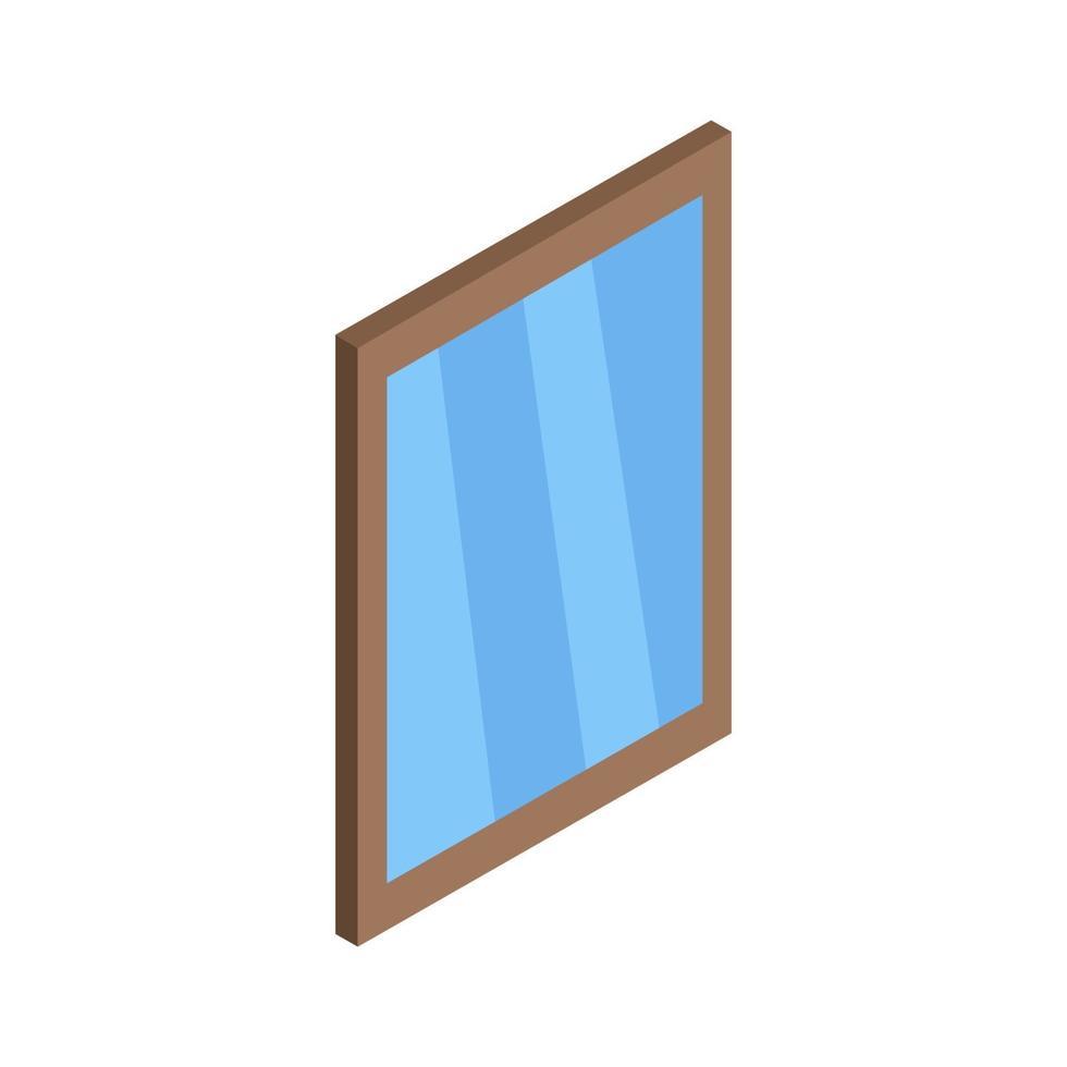 finestra isometrica su sfondo bianco vettore