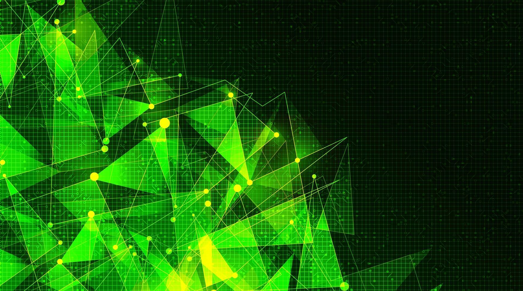 tecnologia futuristica delle molecole su sfondo di microchip, design concept hi-tech e scienza, spazio libero per il testo vettore