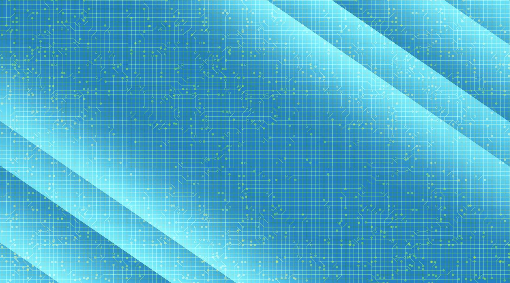 microchip a luce blu su sfondo tecnologico, design digitale hi-tech e concetto di sicurezza, spazio libero per il testo vettore