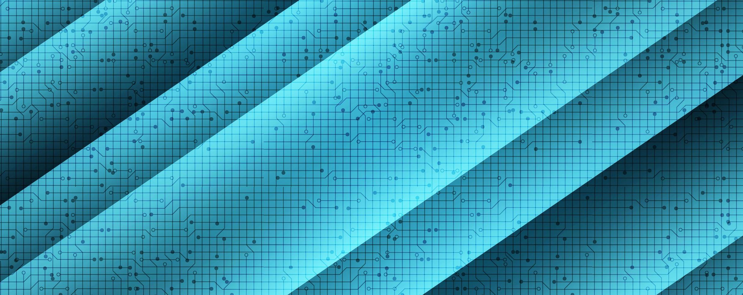 microchip circuito astratto su sfondo tecnologico, design concept hi-tech e sicurezza, spazio libero per il testo vettore