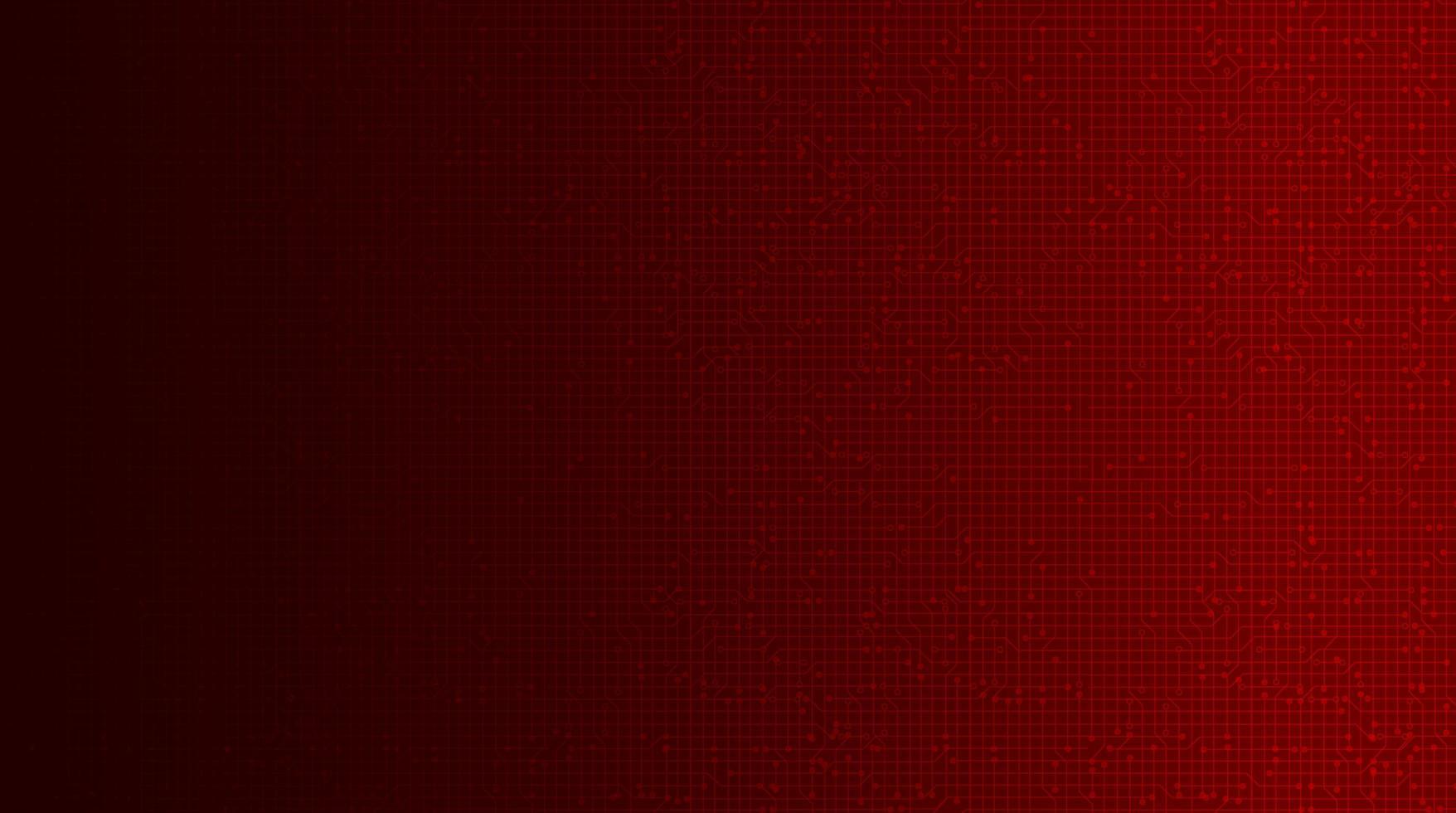 microchip digitale futuristico rosso su sfondo di tecnologia vettore