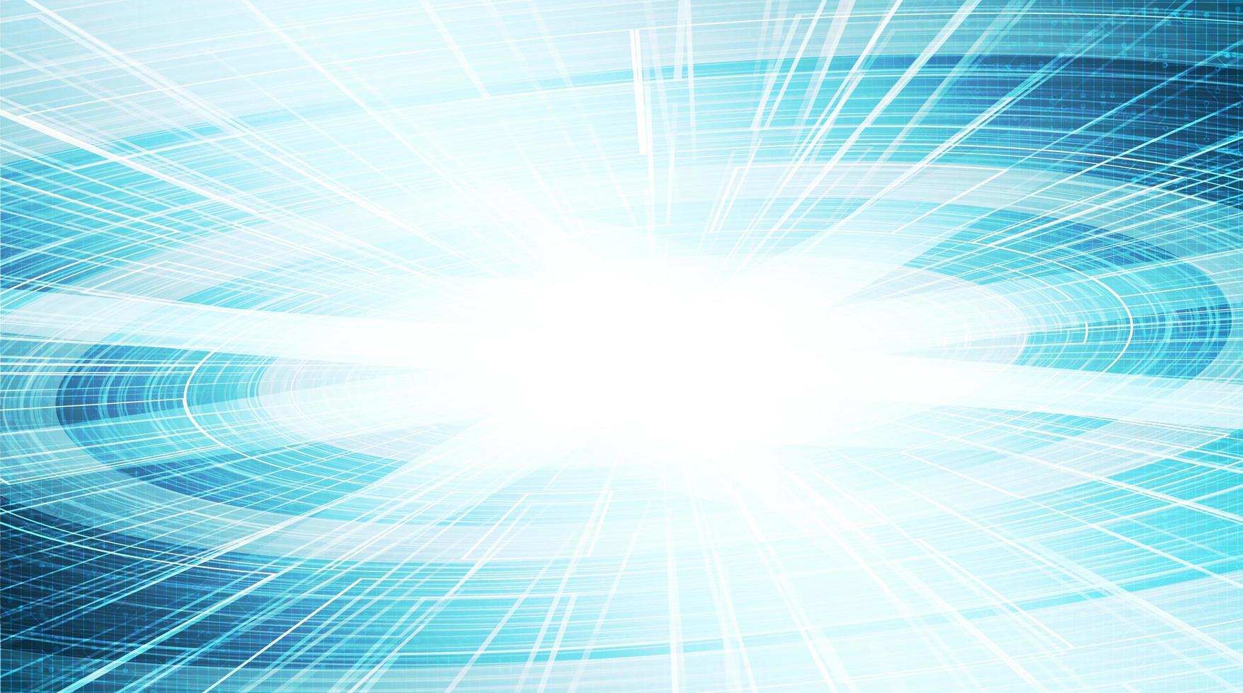 sfondo tecnologia cerchio luce, design digitale hi-tech e sicurezza vettore