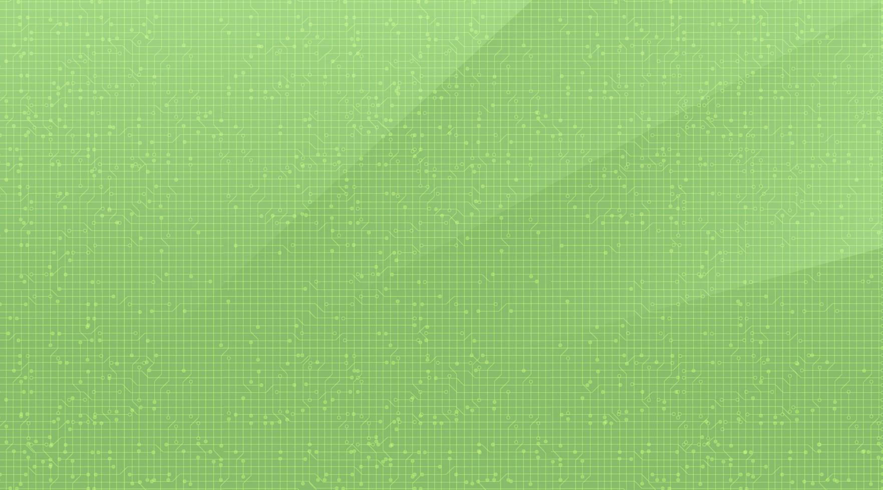 tecnologia del microchip del circuito verde morbido su sfondo futuro, concetto digitale e di comunicazione hi-tech vettore
